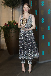 Photo Must Be Credited ©Alpha Press<br /> Emma Stone arrives at the EE British Academy Film Awards after party dinner at the Grosvenor House Hotel in London.