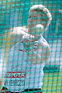 Anita Wlodarczyk from Poland competes in women's hammer throw qualification during the 14th IAAF World Athletics Championships at the Luzhniki stadium in Moscow on August 14, 2013.<br /> <br /> Russian Federation, Moscow, August 14, 2013<br /> <br /> Picture also available in RAW (NEF) or TIFF format on special request.<br /> <br /> For editorial use only. Any commercial or promotional use requires permission.<br /> <br /> Mandatory credit:<br /> Photo by © Adam Nurkiewicz / Mediasport