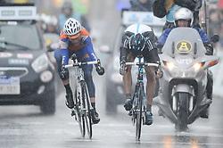"26.02.2011, Flandern, BEL, Omloop, Radsport Frühjahrsklassikers, im Bild  sebastian langeveld rabobank and antonio flecha sky sprint for victory onTHE 66e FLANDERS CLASSICS CYLING RACE "" OMLOOP HET NIEUWSBLAD "". Saterday Feb. 26,  2011. ( EXPA Pictures © 2011, PhotoCredit: EXPA/ nph/   / Laurent Dubrule )       ****** out of GER / SWE / CRO  / BEL ******"