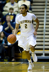 February 11, 2010; Berkeley, CA, USA;  California Golden Bears guard Jorge Gutierrez (2) during the first half against the Washington Huskies at the Haas Pavilion.  California defeated Washington 93-81.