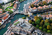 Nederland, Zeeland, Schouwen-Duiveland, 28-10-2014; Zierikzee met Zuidhavenpoort.<br /> Zierikzee, located on the island of Schouwen, Zealand.<br /> luchtfoto (toeslag op standard tarieven); aerial photo (additional fee required); <br /> copyright foto/photo Siebe Swart