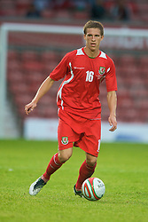 Wrexham, Wales - Wednesday, August 12th, 2009: Wales' James Partington during the UEFA Under 21 Championship Qualifying Group 3 match at the Racecourse Ground. (Photo by Chris Brunskill/Propaganda)