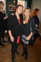 Left to right, SAM RODDICK and ANNABEL KARMEL at a ladies lunch hosted by Thomasina Miers was held at her restaurant Wahaca, 19-23 Charlotte Street, London W1 on 10th January 2014.