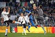 © Filippo Alfero<br /> Italia vs Uruguay - amichevole<br /> Roma, 15/11/2011<br /> sport calcio<br /> Nella foto: occasione per Mario Balotelli
