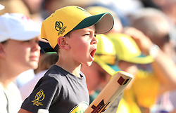 Australia fan during the ICC Cricket World Cup group stage match at Lord's, London.