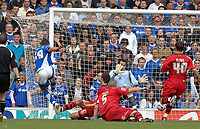 Photo: Ashley Pickering.<br /> Ipswich Town v Cardiff City. Coca Cola Championship. 06/05/2007.<br /> Jon Waters (L) fires in Ipswich's third goal of the afternoon