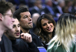 Micahel Ballack and Natacha Tannous in the crowd during the NBA London Game 2018 at the O2 Arena, London.