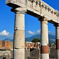 Columns Supporting an Architrave at Forum in Pompeii, Italy <br />