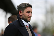 Bristol City manager, Lee Johnson during the Sky Bet Championship match between Brentford and Bristol City at Griffin Park, London, England on 16 April 2016. Photo by Matthew Redman.