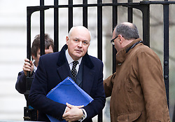 © Licensed to London News Pictures. 07/01/2013. London, UK. The Work and Pensions Secretary Iain Duncan Smith is seen on Downing Street in London today (07/01/13) before the first cabinet meeting of 2013. Photo credit: Matt Cetti-Roberts/LNP