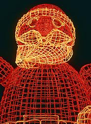 Illuminated Santa Claus, Berlin, Germany