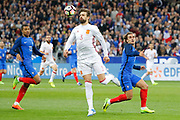 Gerard Pique (ESP), Antoine Griezmann (FRA), Kylian Mbappe (FRA) during the Friendly Game football match between France and Spain on March 28, 2017 at Stade de France in Saint-Denis, France - Photo Stephane Allaman / ProSportsImages / DPPI