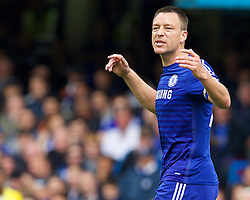 LONDON, ENGLAND - Sunday, May 3, 2015: Chelsea's captain John Terry in action against Crystal Palace during the Premier League match at Stamford Bridge. (Pic by David Rawcliffe/Propaganda)