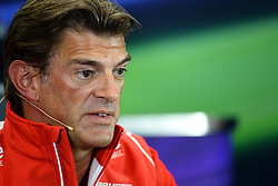 10.10.2014, Sochi Autodrom, Sotschi, RUS, FIA, Formel 1, Grosser Preis von Russland, Training, im Bild Graeme Lowdon (GBR) Marussia F1 President and Sporting Director in the Press Conference. // during the Practice of the FIA Formula 1 Russia Grand Prix at the Sochi Autodrom in Sotschi, Russia on 2014/10/10. EXPA Pictures © 2014, PhotoCredit: EXPA/ Sutton Images/ Lundin<br /> <br /> *****ATTENTION - for AUT, SLO, CRO, SRB, BIH, MAZ only*****