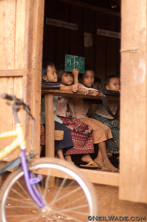 Children study at a remote Cambodian school.  Banlung, Cambodia