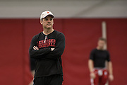 March 27, 2013: Coach Ross Els watching practice at Hawks Championship Center in Lincoln, Nebraska.