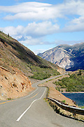 Canada, British Columbia, South Klondike Highway, a typically gorgeous view of BC Highway 2 as it heads towards Carcross, Yukon Territory.