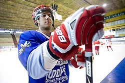 Mitja Robar at practice after HK Acroni Jesenice Team roaster for 2009-2010 season,  on September 03, 2009, in Arena Podmezaklja, Jesenice, Slovenia.  (Photo by Vid Ponikvar / Sportida)