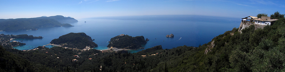 Paleocastriza, panoramic view. Corfu, Greece