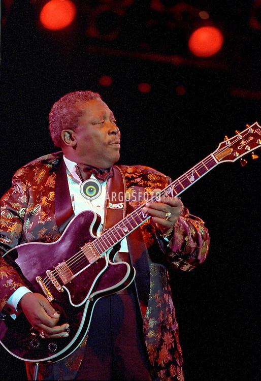 Sao Paulo, SP, Brasil   10/1996.BB King se apresenta no Free Jazz em Sao Paulo./BB King in concert at Free Jazz in Sao Paulo.Foto Marcos Issa/Argosfoto