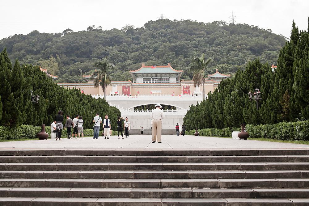 Le musée national de Taipei où sont exposées et entreposées les milliers d'oeuvres et de pièces archéologiques emmenées par le Guomingdang de Chang Kai Shek en 1949.