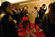 CHARLOTTE CASIRAGHI; LAURA FRASER, Come and Check My Gaff. Mixed exhibition in an empty house in Chelsea. I Petyt Place. London. 16 December 2008. Exhibition on until 21 December.  *** Local Caption *** -DO NOT ARCHIVE-© Copyright Photograph by Dafydd Jones. 248 Clapham Rd. London SW9 0PZ. Tel 0207 820 0771. www.dafjones.com.<br /> CHARLOTTE CASIRAGHI; LAURA FRASER, Come and Check My Gaff. Mixed exhibition in an empty house in Chelsea. I Petyt Place. London. 16 December 2008. Exhibition on until 21 December.