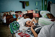 Gennadiy, 42 years old. Diagnosis: multidrug-resistant TB HIV positive. Kherson TB Dispensary, September 14th, 2011..From the words of the patient:.was suffering from tuberculosis for 6 years, didn't have any idea how he became ill. He worked on a fishing vessel in Kamchatka. He returned after receiving a letter from his mother in which she informed that she was dying. Couldn't find a job and began to drink alcohol. He got to the hospital by calling to emergency. Diagnosis: cirrhosis of the liver..From his ​​mother's words:.was selling things from the house and gathering bottles to buy medicine and food for her son, who couldn't rise from the bed over the last few weeks..Died October 12th, 2011. In 1995, the World Health Organization declared the tuberculosis epidemic in Ukraine. Over the past 16 years the situation has greatly worsened. Each day TB takes lives of 30 people, annually - about 10 thousand.