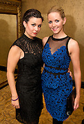 Niamh Gately from loughrea Musical Society with Claire Toner from Dock Road Galway  at  the launch of of the  hopefully Xmas number 1 single Tiny Dancer by a host of Irish singers ( Mary Black, Paddy Casey, John Spillane to mention just a few)  at Hotel Meyrick in aid of the Lily Mae Trust. Picture:Andrew Downes..Photo issued with compliments, no reproduction fee