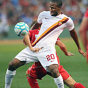 Seydou Keita, AS Roma, in action during the Liverpool Vs AS Roma friendly pre season football match at Fenway Park, Boston. USA. 23rd July 2014. Photo Tim Clayton