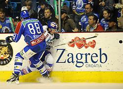 06.11.2011,   Dom Sportova, Zagreb, CRO,  EBEL Eishockey game between Medvescak KHL Zagreb and  EC REKORD-Fenster VSV , im BIld Dario Kostovic..// during EBEL Eishockey game between Medvescak KHL Zagreb and EC REKORD-Fenster VSV at Dom Sportava in Zagreb, Croatia on 2011/11/06  Foto ©  nph / PIXSELL / Daniel Kasap       ****** out of GER / CRO  / BEL ******