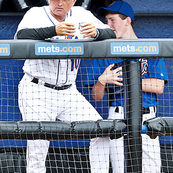 March 6, 2011; Port St. Lucie, FL, USA; New York Mets manager Terry Collins (10) before a spring training exhibition game against the Boston Red Sox at Digital Domain Park.  Mandatory Credit: Derick E. Hingle
