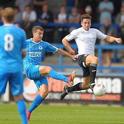 TELFORD COPYRIGHT MIKE SHERIDAN Adam Walker of Telford during the National League North fixture between AFC Telford United and Chester FC at the New Bucks Head on Saturday, September 14, 2019<br /> <br /> Picture credit: Mike Sheridan<br /> <br /> MS201920-018