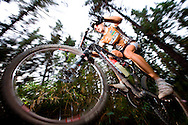Oak Valley ( Elgin / Grabouw ), SOUTH AFRICA -Marcel Bartholet, second place of mixed category, rides through the single track at High Rising during stage six , 6 , of the Absa Cape Epic Mountain Bike Stage Race in Oak Valley ( Elgin / Grabouw ) on the 27 March 2009 in the Western Cape, South Africa..Photo by Karin Schermbrucker /SPORTZPICS