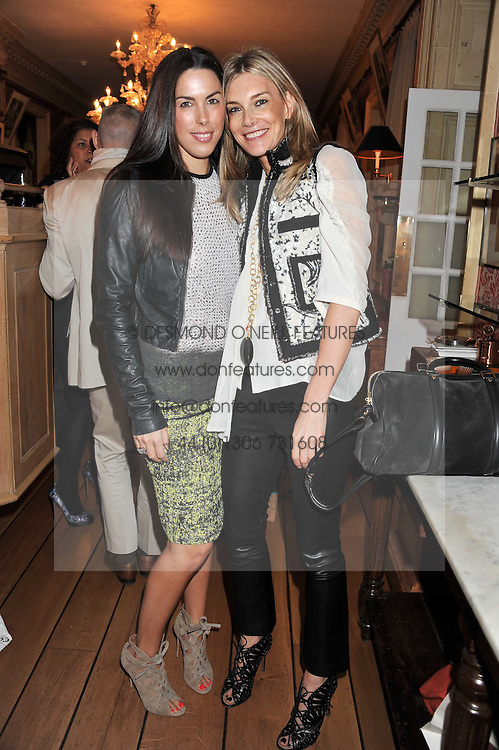 Left to right, JESSICA DE ROTHSCHILD and KIM HERSOV at a lunch to celebrate the the Lulu & Co Autumn/Winter 2011 collection held at Harry's Bar, 26 South Audley Street, London W1 on 21st June 2011.