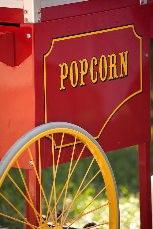 Popcorn Cart at an outdoor event