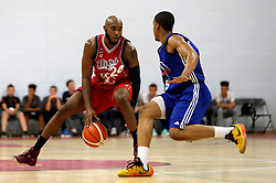 Brandon Boggs of Bristol Flyers runs with the ball - Mandatory by-line: Robbie Stephenson/JMP - 08/09/2016 - BASKETBALL - SGS Arena - Bristol, England - Bristol Flyers v USA Select - Preseason Friendly