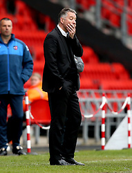 Doncaster Rovers manager Darren Ferguson shows his frustration during the defeat to Exeter City - Mandatory by-line: Robbie Stephenson/JMP - 29/04/2017 - FOOTBALL - The Keepmoat Stadium - Doncaster, England - Doncaster Rovers v Exeter City - Sky Bet League Two
