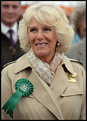 The Duchess of Cornwall judges the cider tasting competition and declares Harry's cider the winner during a tour of the Royal Bath & West Show, Royal Bath & West Showground, Shepton Mallet, Somerset, United Kingdom, Wednesday, 28th May 2014. Picture by Andrew Parsons / i-Images