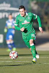 09.01.2015, Hotel Regnun Carya, Belek, TUR, FS Vorbereitung, Fussball Testspiel, SV Werder Bremen vs FC Energie Cottbus, im Bild Torschuetze Zlatko Junuzovic (SV Werder Bremen #16) //  during a international football frindly match between SV Werder Bremen vs FC Energie Cottbus at the Hotel Regnun Carya in Belek, Turkey on 2015/01/09. EXPA Pictures © 2015, PhotoCredit: EXPA/ Eibner-Pressefoto/ Schueler<br /> <br /> *****ATTENTION - OUT of GER*****