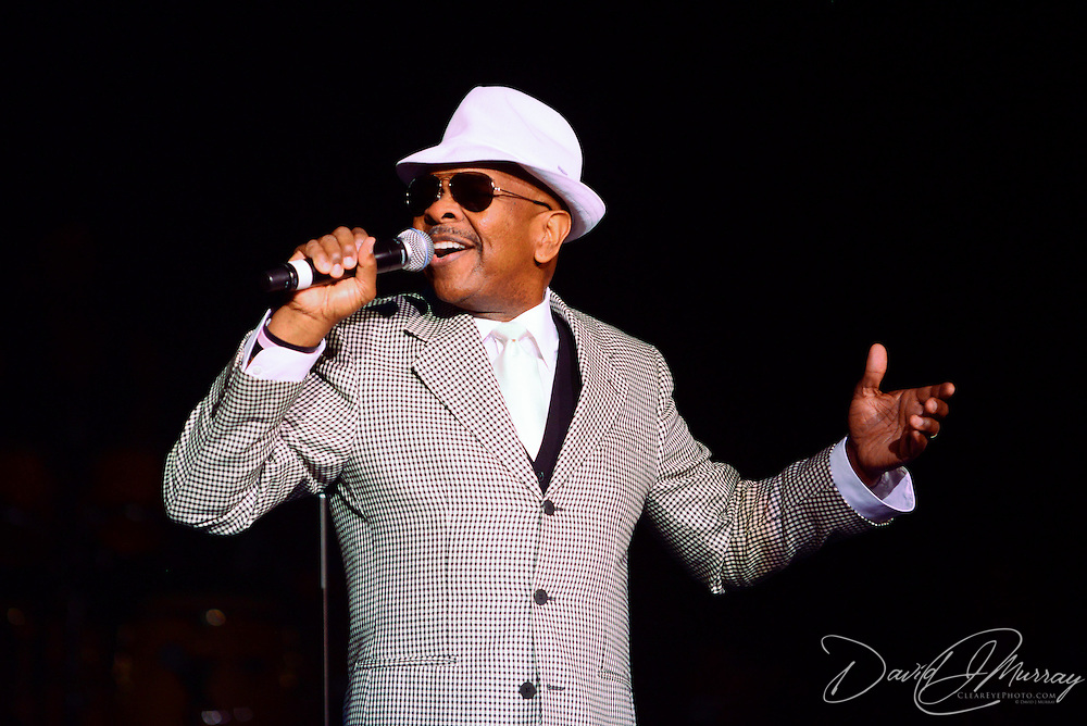 """Gladys Knight's older brother Merald """"Bubba Knight Jr. performing in her concert at The Music Hall in Portsmouth, NH. Oct. 2012."""