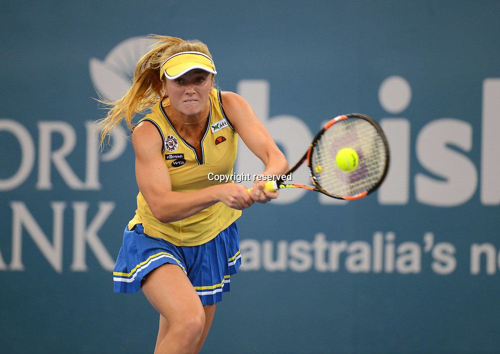 08.01.2014. Brisbane, Queensland, Australia.  Elina Svitolina (UKR) in Action. Brisbane International 2015,