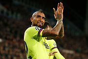 Barcelona player Arturo Vidal celebrating the 0-1 during the UEFA Champions League, Group B football match between PSV Eindhoven and FC Barcelona on November 28, 2018 at Philips Stadium in Eindhoven, Netherlands - Photo Thomas Bakker / Pro Shots / ProSportsImages / DPPI
