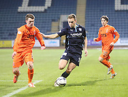 Dundee's Greg Stewart goes past Kilmarnock's Ross Barbour -  Dundee v Kilmarnock, SPFL Premiership at Dens Park <br /> <br /> <br />  - &copy; David Young - www.davidyoungphoto.co.uk - email: davidyoungphoto@gmail.com