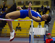 Hampton Lady Pirate's senior Claudia Calder was the Outstanding Performer during the 2012 MEAC Indoor Track Championship at the Prince George's Sports & Learning Complex in Landover, Maryland.  The Lady Pirates won their 9th out of the last 10 championships.  February 17, 2012  (Photo by Mark W. Sutton)