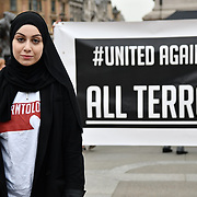 Respect New Zealanders and is the first and only western nation recognise white terrorist and ban semi-automatic gun. Speaker and New Zealanders in London will come together with the wider London community to stand for solidarity in response to the shootings in Christchurch, New Zealand a week ago. A vigil of peace as we acknowledge our Muslim brothers and sisters who lost their lives in Trafalgar Square on 21 March 2019, London, UK.