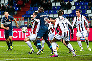 Onderwerp/Subject: Willem II - Feyenoord - Eredivisie<br /> Reklame:  <br /> Club/Team/Country: <br /> Seizoen/Season: 2012/2013<br /> FOTO/PHOTO: Aurelien JOACHIM (L) of Willem II in duel with Bruno MARTINS ( Bruno Martins INDI ) (C) of Feyenoord. (Photo by PICS UNITED)<br /> <br /> Trefwoorden/Keywords: <br /> #04 #18 $94 &plusmn;1354627667242<br /> Photo- &amp; Copyrights &copy; PICS UNITED <br /> P.O. Box 7164 - 5605 BE  EINDHOVEN (THE NETHERLANDS) <br /> Phone +31 (0)40 296 28 00 <br /> Fax +31 (0) 40 248 47 43 <br /> http://www.pics-united.com <br /> e-mail : sales@pics-united.com (If you would like to raise any issues regarding any aspects of products / service of PICS UNITED) or <br /> e-mail : sales@pics-united.com   <br /> <br /> ATTENTIE: <br /> Publicatie ook bij aanbieding door derden is slechts toegestaan na verkregen toestemming van Pics United. <br /> VOLLEDIGE NAAMSVERMELDING IS VERPLICHT! (&copy; PICS UNITED/Naam Fotograaf, zie veld 4 van de bestandsinfo 'credits') <br /> ATTENTION:  <br /> &copy; Pics United. Reproduction/publication of this photo by any parties is only permitted after authorisation is sought and obtained from  PICS UNITED- THE NETHERLANDS