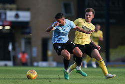 Stephen McLaughlin of Southend United  and Ben Thompson of Millwall tussle for the ball - Mandatory by-line: Arron Gent/JMP - 24/07/2019 - FOOTBALL - Roots Hall - Southend-on-Sea, England - Southend United v Millwall - pre season friendly