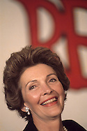 Nancy Reagan in January 1976..Photograph by Dennis Brack BB31