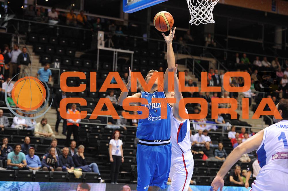 DESCRIZIONE : Siauliai Lithuania Lituania Eurobasket Men 2011 Preliminary Round Serbia Italia Serbia Italy<br /> GIOCATORE : Stefano Mancinelli<br /> SQUADRA : Italia Italy<br /> EVENTO : Eurobasket Men 2011<br /> GARA : Serbia Italia Serbia Italy<br /> DATA : 31/08/2011 <br /> CATEGORIA : tiro<br /> SPORT : Pallacanestro <br /> AUTORE : Agenzia Ciamillo-Castoria/GiulioCiamillo<br /> Galleria : Eurobasket Men 2011 <br /> Fotonotizia : Siauliai Lithuania Lituania Eurobasket Men 2011 Preliminary Round Serbia Italia Serbia Italy<br /> Predefinita :