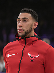 November 21, 2017 - Los Angeles, California, United States of America - Denzel Valentine #45 of the Chicago Bulls during warm ups prior to their game with the Los Angeles Lakers on Tuesday November 21, 2017 at the Staples Center in Los Angeles, California. Lakers defeat Bulls, 103-94. JAVIER ROJAS/PI (Credit Image: © Prensa Internacional via ZUMA Wire)